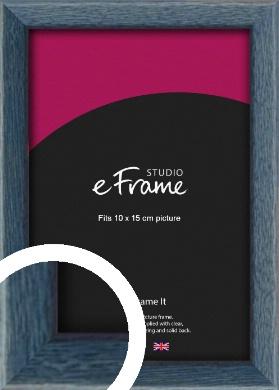 Coastal Blue Picture Frame, 10x15cm (4x6