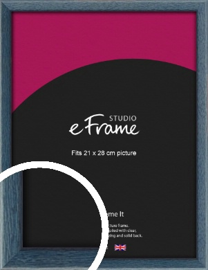 Coastal Blue Picture Frame, 21x28cm (VRMP-338-21x28cm)