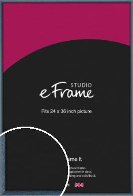 Coastal Blue Picture Frame, 24x36