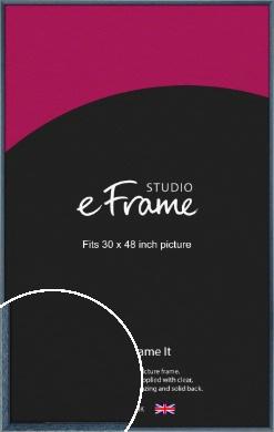 Coastal Blue Picture Frame, 30x48