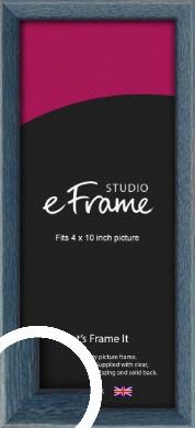 Coastal Blue Picture Frame, 4x10