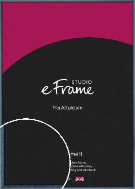 Coastal Blue Picture Frame, A0 (841x1189mm) (VRMP-338-A0)