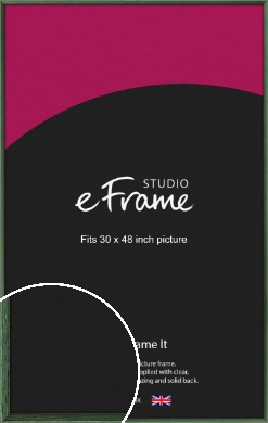 Simple Grain Green Picture Frame, 30x48
