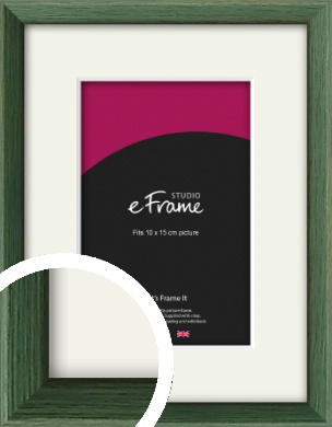 Simple Grain Green Picture Frame & Mount, 10x15cm (4x6
