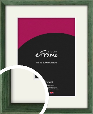 Simple Grain Green Picture Frame & Mount, 15x20cm (6x8