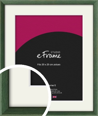 Simple Grain Green Picture Frame & Mount, 20x25cm (8x10