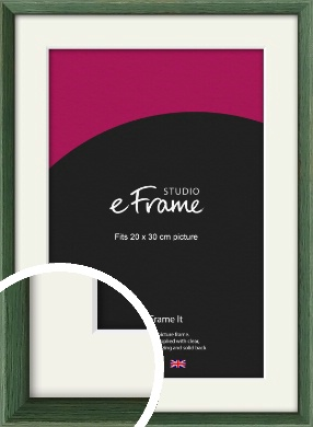 Simple Grain Green Picture Frame & Mount, 20x30cm (8x12