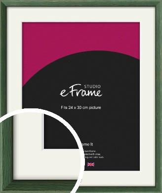 Simple Grain Green Picture Frame & Mount, 24x30cm (VRMP-335-M-24x30cm)