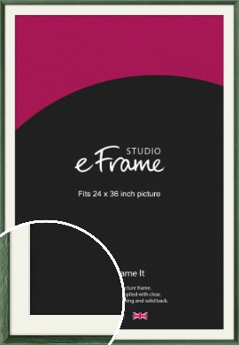 Simple Grain Green Picture Frame & Mount, 24x36