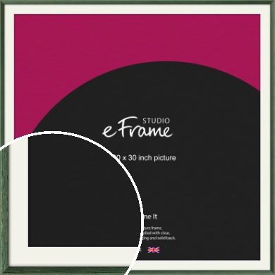 Simple Grain Green Picture Frame & Mount, 30x30