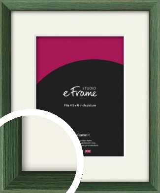Simple Grain Green Picture Frame & Mount, 4.5x6