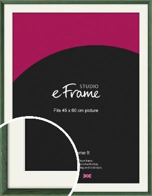 Simple Grain Green Picture Frame & Mount, 45x60cm (VRMP-335-M-45x60cm)