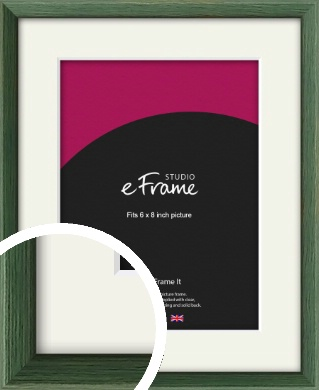 Simple Grain Green Picture Frame & Mount, 6x8