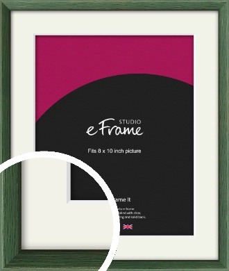 Simple Grain Green Picture Frame & Mount, 8x10