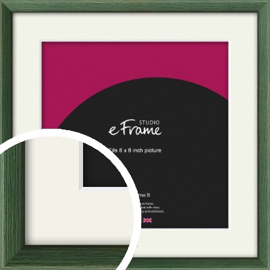 Simple Grain Green Picture Frame & Mount, 8x8