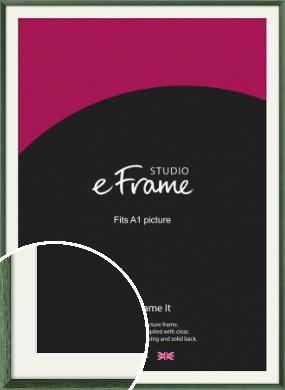 Simple Grain Green Picture Frame & Mount, A1 (594x841mm) (VRMP-335-M-A1)