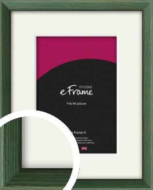 Simple Grain Green Picture Frame & Mount, A6 (105x148mm) (VRMP-335-M-A6)