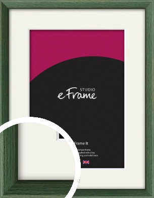 Simple Grain Green Picture Frame & Mount (VRMP-335-M)