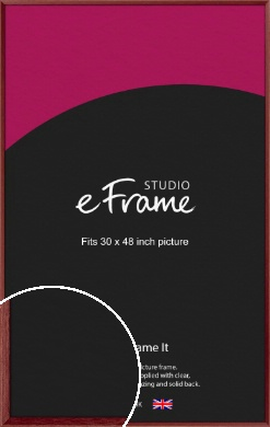 Crimson Red Picture Frame, 30x48