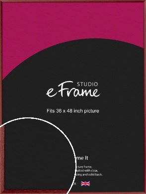 Crimson Red Picture Frame, 36x48