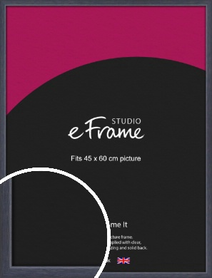 Elegant Navy Blue Picture Frame, 45x60cm (VRMP-1109-45x60cm)