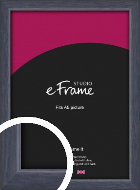 Elegant Navy Blue Picture Frame, A5 (148x210mm) (VRMP-1109-A5)