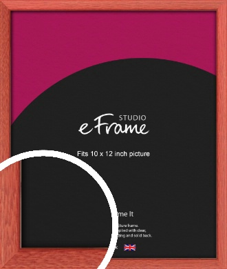 Faded Open Grain Red Picture Frame, 10x12