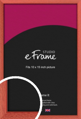 Faded Open Grain Red Picture Frame, 10x15