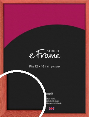Faded Open Grain Red Picture Frame, 12x16