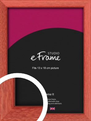 Faded Open Grain Red Picture Frame, 13x18cm (5x7
