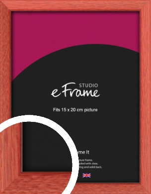 Faded Open Grain Red Picture Frame, 15x20cm (6x8