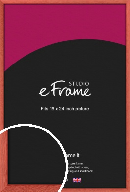 Faded Open Grain Red Picture Frame, 16x24