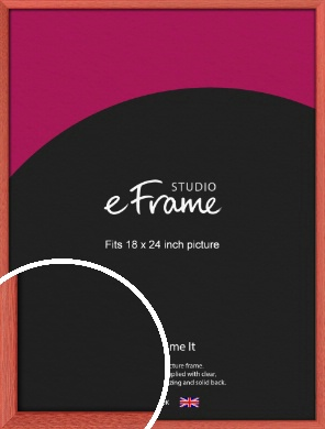 Faded Open Grain Red Picture Frame, 18x24