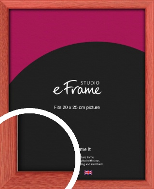 Faded Open Grain Red Picture Frame, 20x25cm (8x10