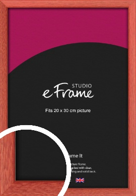 Faded Open Grain Red Picture Frame, 20x30cm (8x12