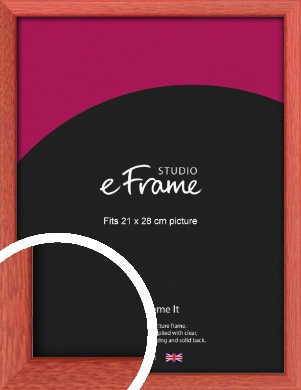 Faded Open Grain Red Picture Frame, 21x28cm (VRMP-334-21x28cm)