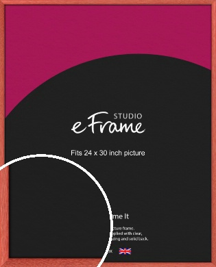 Faded Open Grain Red Picture Frame, 24x30
