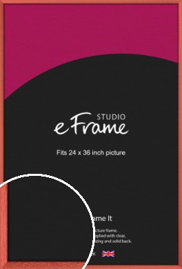 Faded Open Grain Red Picture Frame, 24x36
