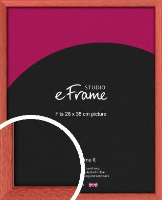 Faded Open Grain Red Picture Frame, 28x35cm (VRMP-334-28x35cm)