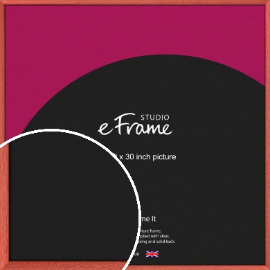 Faded Open Grain Red Picture Frame, 30x30
