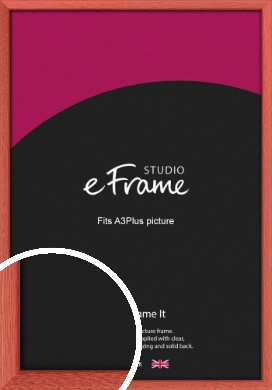 Faded Open Grain Red Picture Frame, A3Plus (VRMP-334-329x483mm)