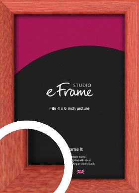 Faded Open Grain Red Picture Frame, 4x6