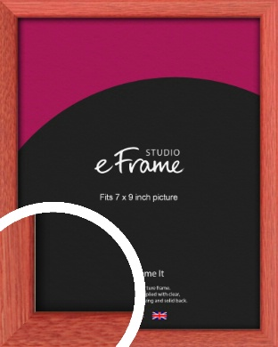 Faded Open Grain Red Picture Frame, 7x9