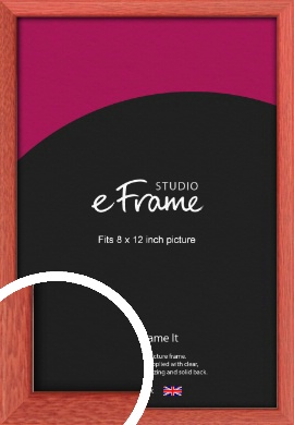 Faded Open Grain Red Picture Frame, 8x12