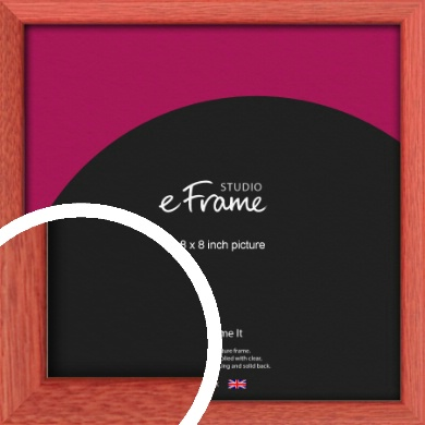 Faded Open Grain Red Picture Frame, 8x8