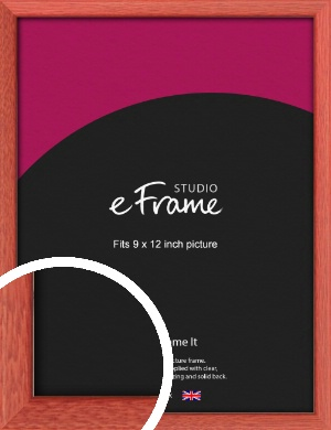 Faded Open Grain Red Picture Frame, 9x12