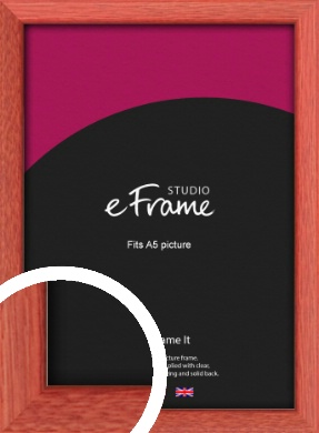 Faded Open Grain Red Picture Frame, A5 (148x210mm) (VRMP-334-A5)
