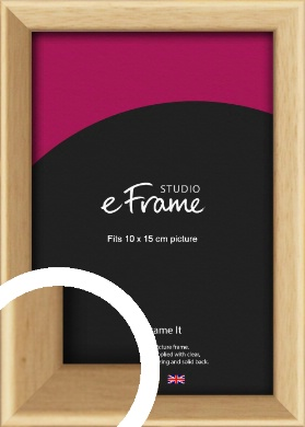 Understated Natural Wood Picture Frame, 10x15cm (4x6