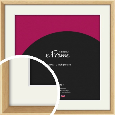 Understated Natural Wood Picture Frame & Mount, 10x10