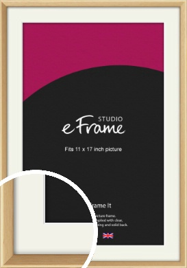 Understated Natural Wood Picture Frame & Mount, 11x17